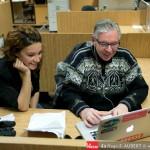 Bernard Brault me donnait de précieux conseils sur le traitement d'images dans la salle de rédaction de La Presse. PHOTO : HUGO-SÉBASTIEN AUBERT