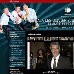 Site web de Radio-Canada :: Gala les Olivier :: Réal Béland et la photographe Anne Gauthier
