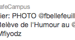 ReTweet du Café Campus pour mes photos de la soirée RELÈVE DE L'HUMOUR 2012 avec François Bellefeuille au Café Campus