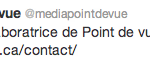 Tweet du Journal Point de Vue Mont-Tremblant et ma collaboration en tant que photographe de presse