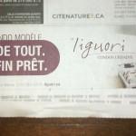 Photo pour la publicité de nouveaux condos dans La Presse :: Le Liguori