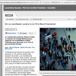 Article du 23 mai 2012 au Journal Le Point de Vue Mont Tremblant avec photo de Anne Gauthier
