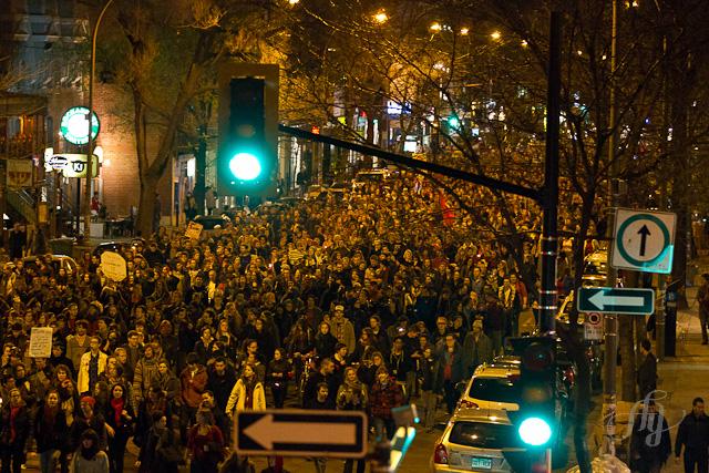 6e marche nocturne des étudiants