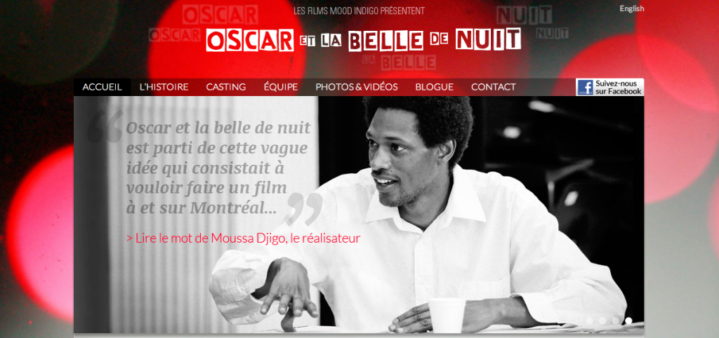 Site web du film OSCAR ET LA BELLE DE NUIT