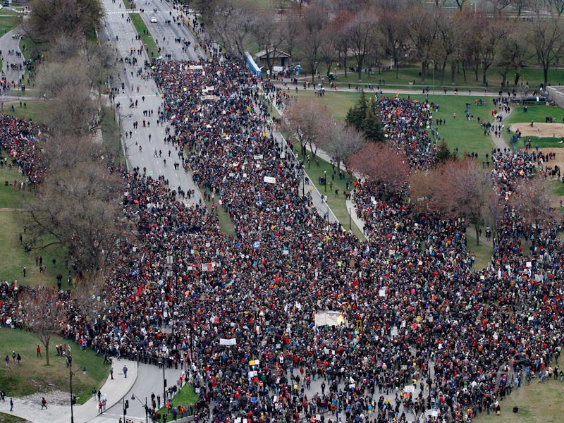 La manifestation de 200 000 personnes pour le Jour de la Terre