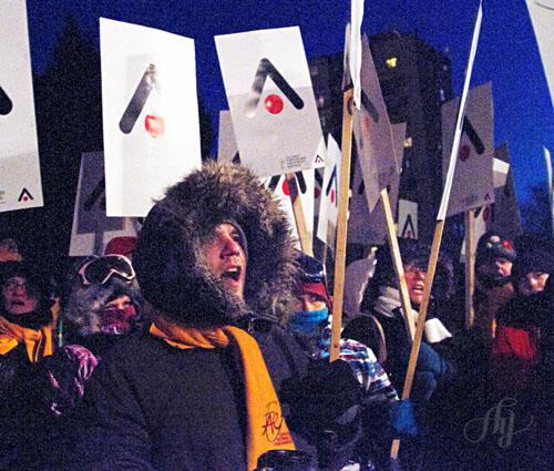 Stage à La Presse :: Manifestation