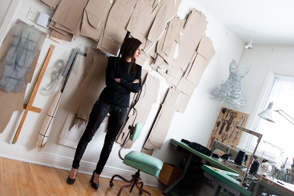 Reportage :: Le fil d'Ariane #1 avec la designer de mode :: Elisa C-Rossow. PHOTO : ANNE GAUTHIER