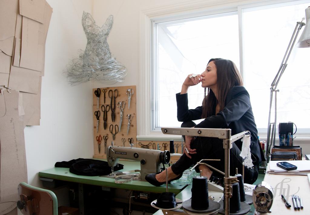 Reportage :: Le fil d'Ariane #1 avec la designer de mode :: Elisa C-Rossow. PHOTOS : ANNE GAUTHIER