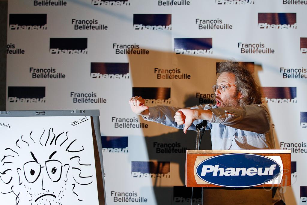 François Bellefeuille :: Conférence de presse pour son One Man Show. PHOTOS : Anne Gauthier