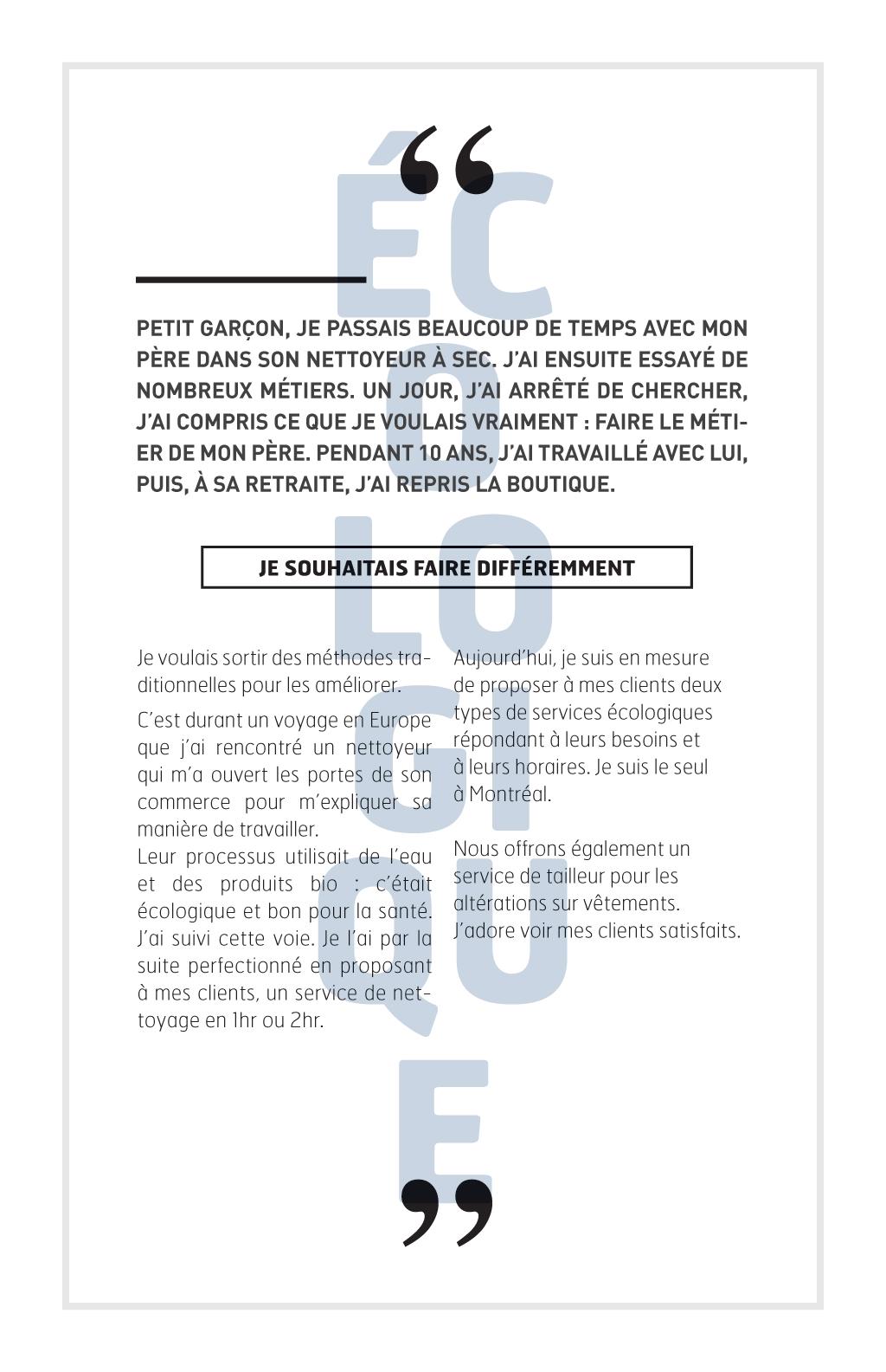 Reportage sur les métiers de la couture à Montréal :: Le fil d'Ariane # 6 :: James Bitzilos, Nettoyeur et Tailleur Renew Système