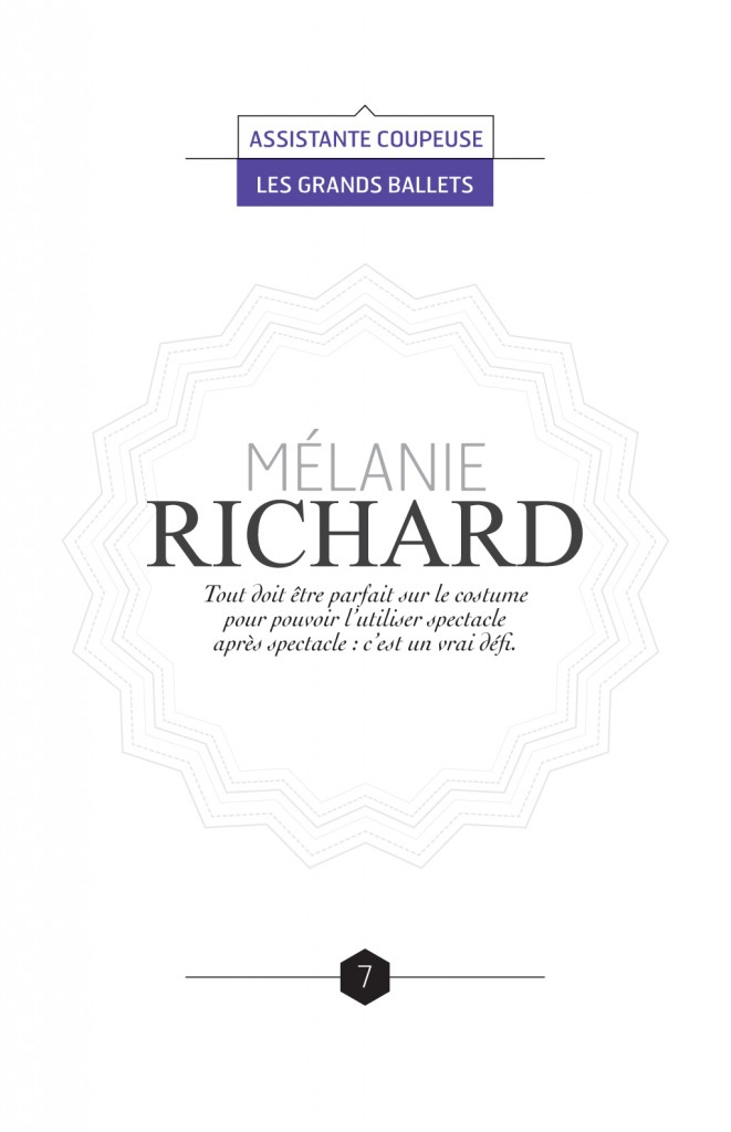 Reportage sur les métiers de la couture à Montréal :: Le fil d'Ariane # 7 :: Mélanie Richard, Assistante coupeuse Grands Ballets Canadiens