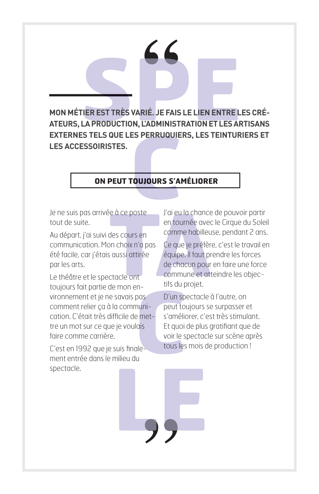 Reportage sur les métiers de la couture à Montréal :: Le fil d'Ariane # 7 :: Mélanie Ferrero, Chef d'atelier de costumes Grands Ballets Canadiens