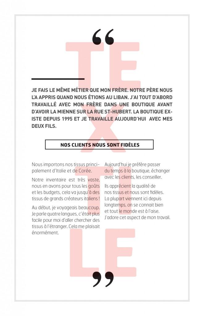 Reportage sur les métiers de la couture à Montréal :: Le fil d'Ariane # 8 :: Jean Grayeb, propriétaire boutique Texture Couture Elle