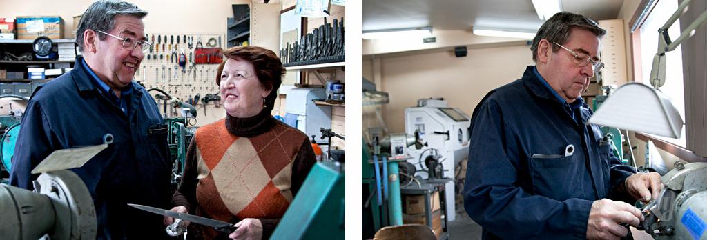 Reportage :: Le fil d'Ariane #2 avec l'aiguiseur :: Yvon Bouchard. PHOTOS : ANNE GAUTHIER