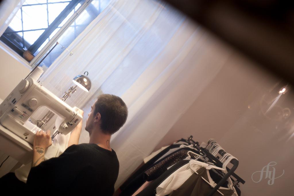 Xavier Laruelle, Designer mode. PHOTO : ANNE GAUTHIER