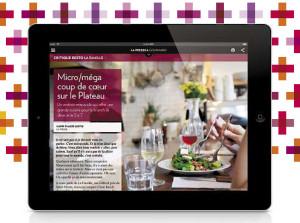 La Presse Annonce iPad Resto La Famille : Photo Anne Gauthier