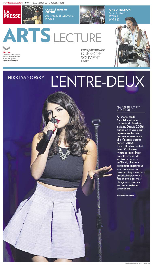 La Presse Arts :: Nikki Yanofsky : Photo Anne Gauthier