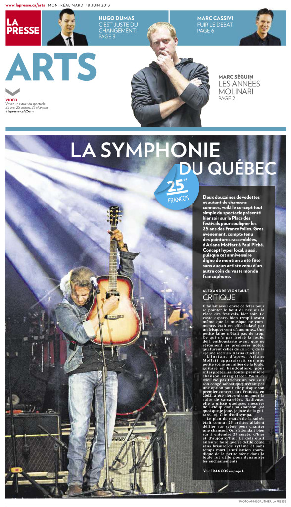 La Presse Arts :: Francofolies 2013 : Photo Anne Gauthier