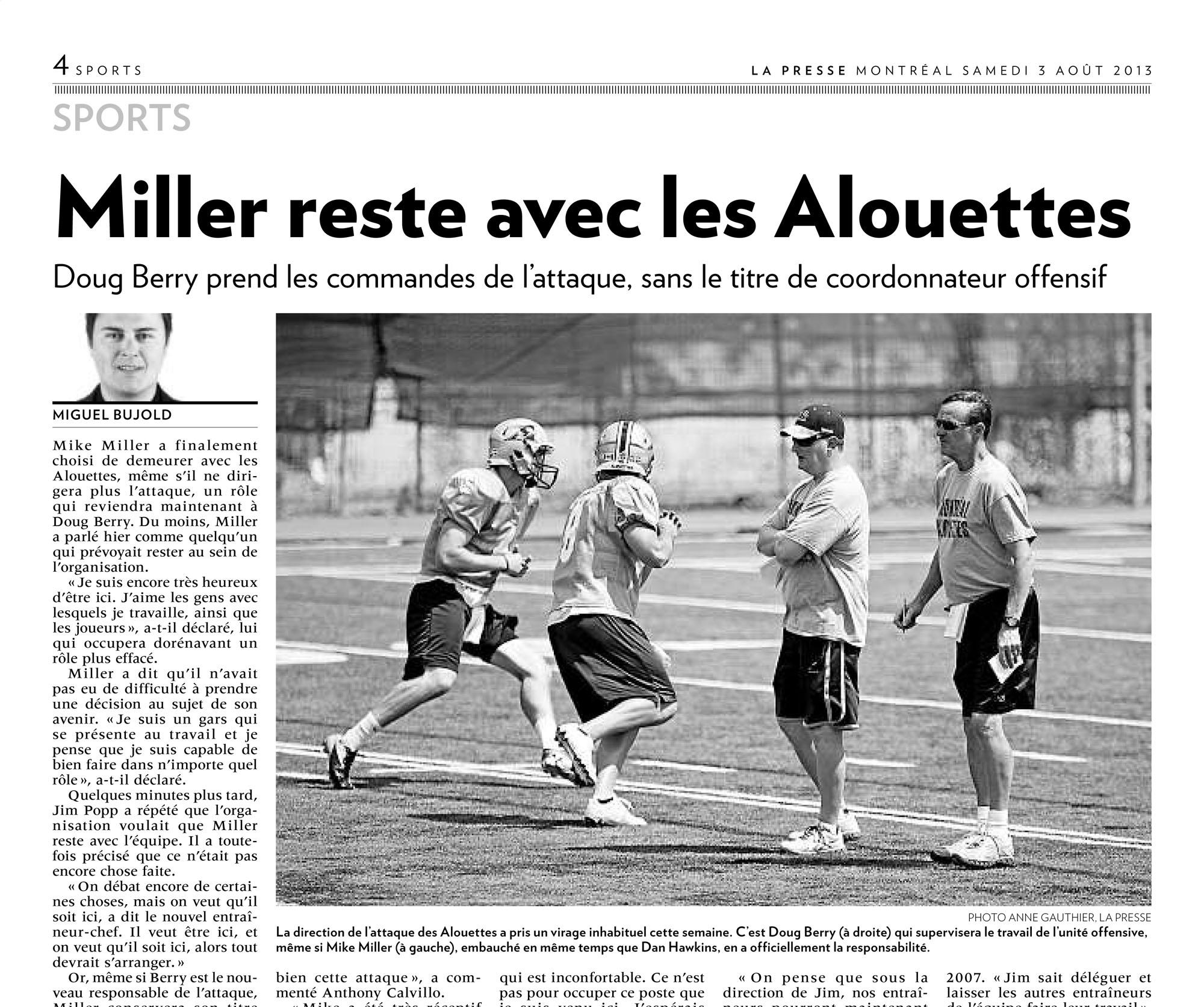 Miller Alouettes-2013-08-03 LA PRESSE Photo Anne Gauthier