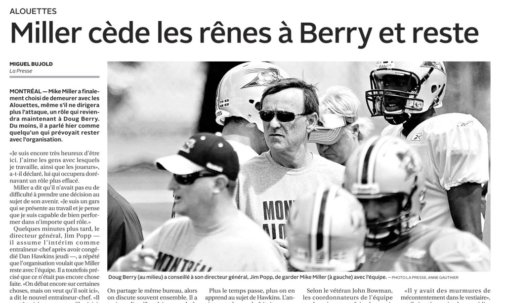 Alouettes 2013-2013-08-03 LA PRESSE Photo Anne Gauthier