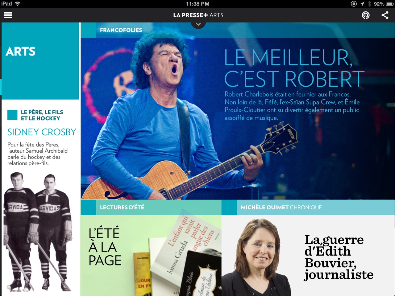 La Presse + Arts :: Robert Charlebois : Photo Anne Gauthier