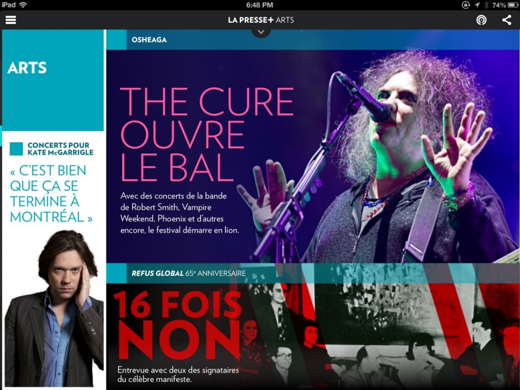 La Presse + Arts :: The Cure : Photo Anne Gauthier