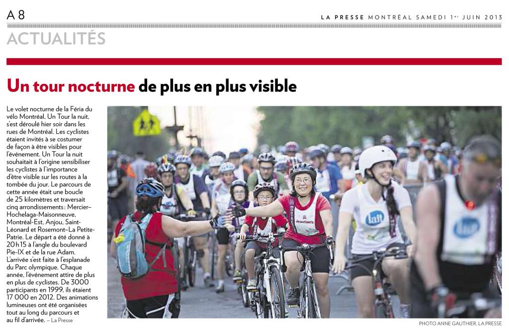 La Presse Actualités :: Tour de vélo nocturne à Montréal - Photo Anne Gauthier
