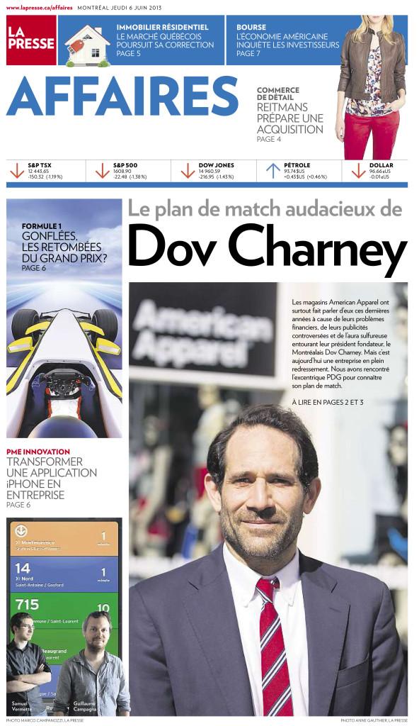 La Presse Affaires :: Dov Charney, Président de American Appareil : Photo Anne Gauthier