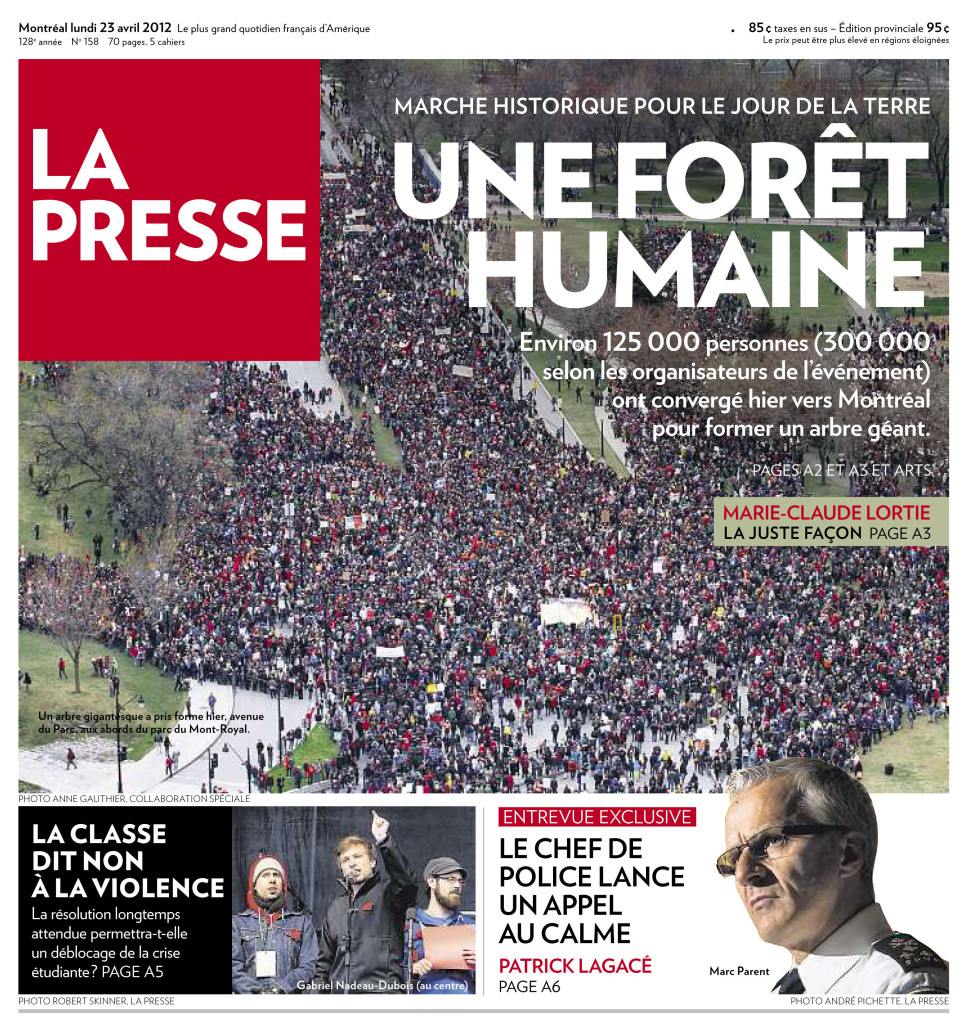 La Presse :: [Jour de la Terre 2012] Une forêt humaine : Photo Anne Gauthier