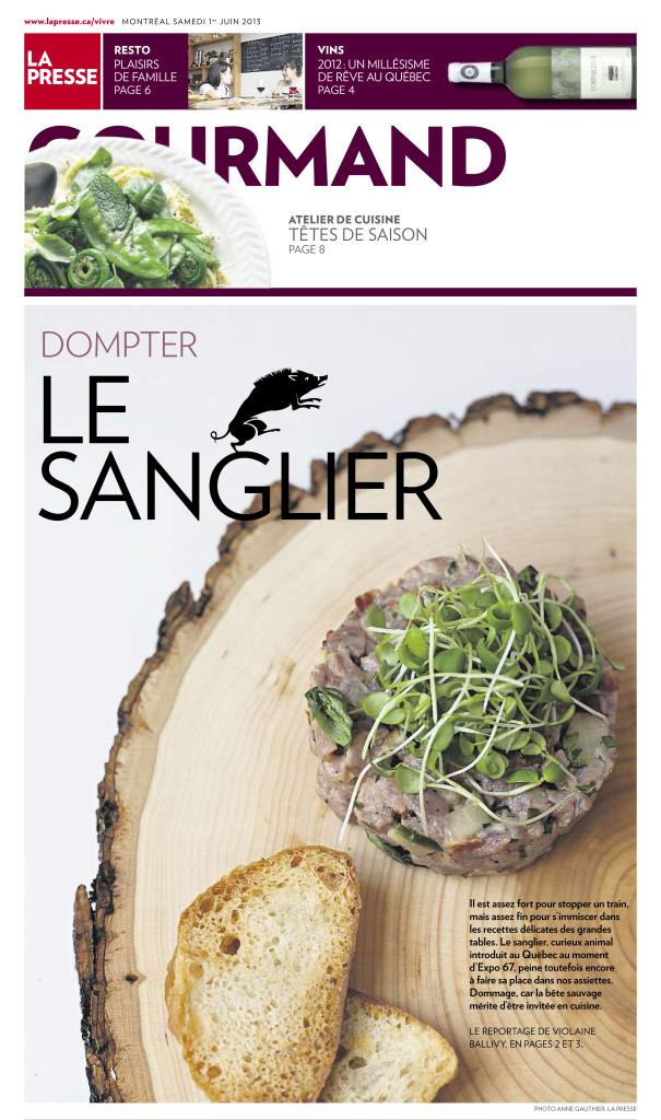 La Presse :: Le Sanglier : Photo Anne Gauthier